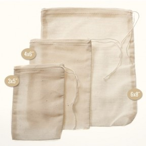 "Muslin Herb Bag 4x6"" - 5 Count"