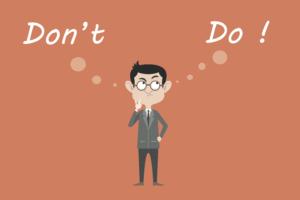 don't or do illustration