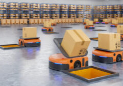 sorting packages warehouse