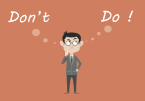 don't or do illustration